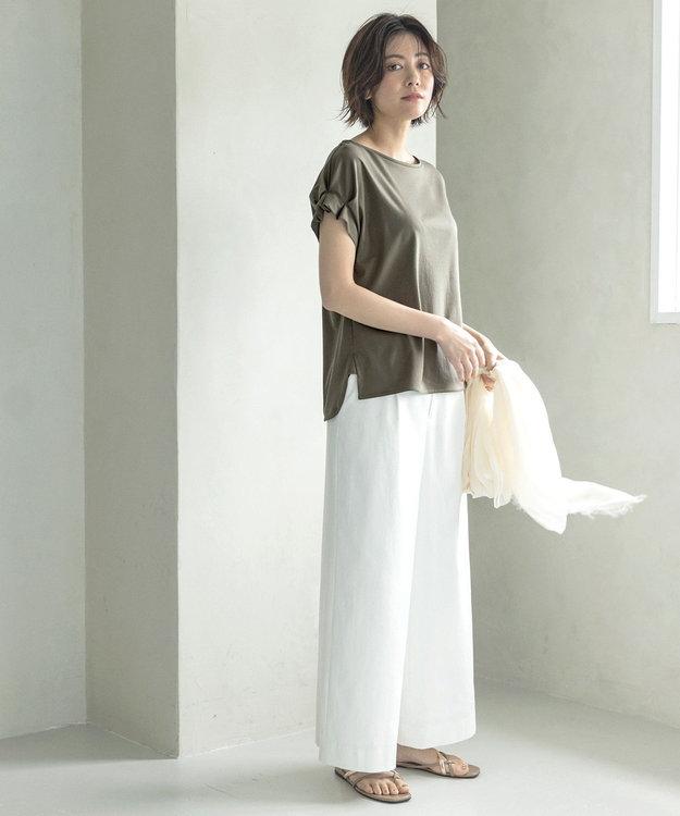 自由区 L 【接触冷感・吸水速乾・UVカット】パーフェクトパンツ ワイド