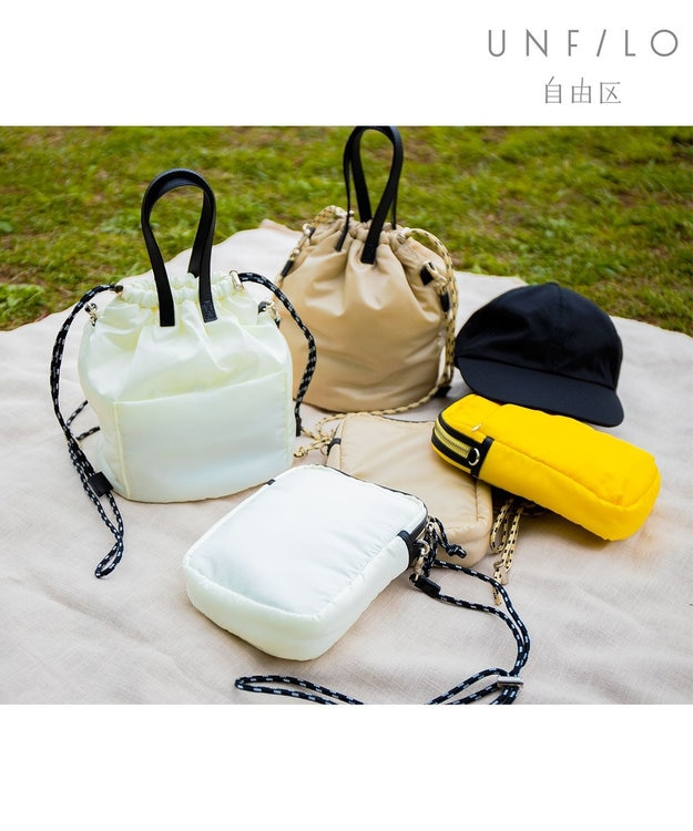 自由区 【UNFILO/撥水 】抗菌防臭ポケット付き サコッシュ ポシェット ミニ