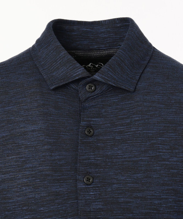 JOSEPH ABBOUD 【JOSEPH ABBOUD MOUNTAIN】ランダムスラブリップル ポロシャツ