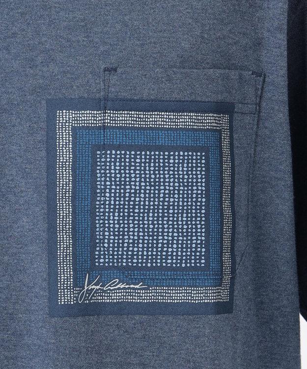 JOSEPH ABBOUD 【SPACE】OG綿スクエアドットプリント ポケTシャツ