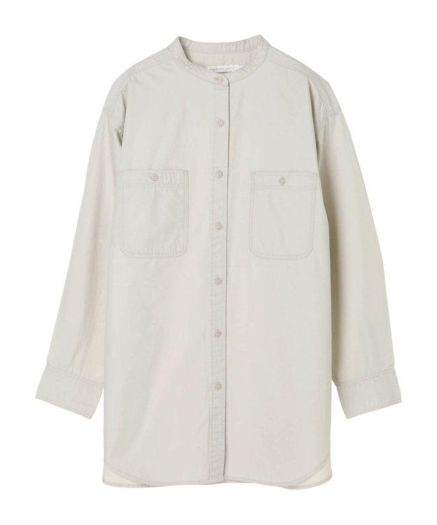AMERICAN HOLIC スタンドカラー両ポケットシャツ