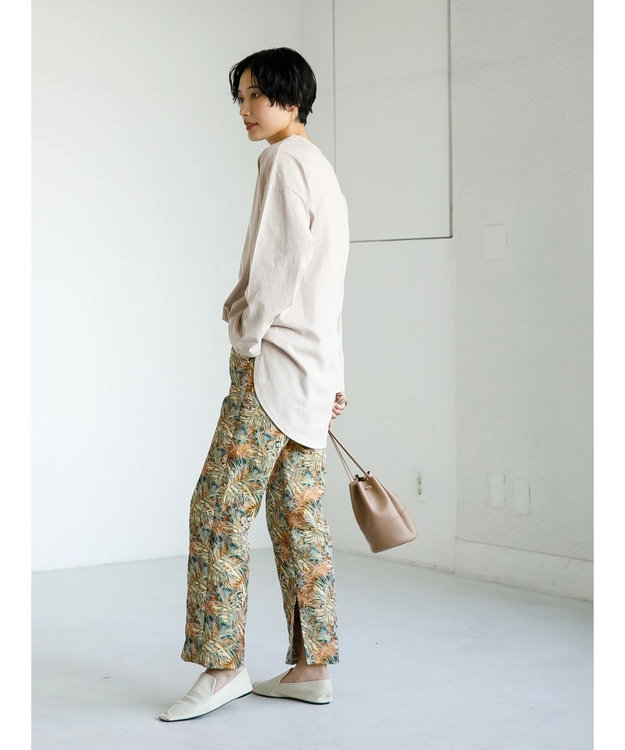 koe ジャガードリーフ柄パンツ