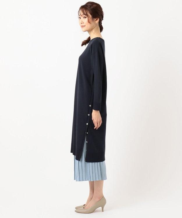 J.PRESS LADIES L 【洗える】ワンピ+プリーツスカート ツインセットワンピース