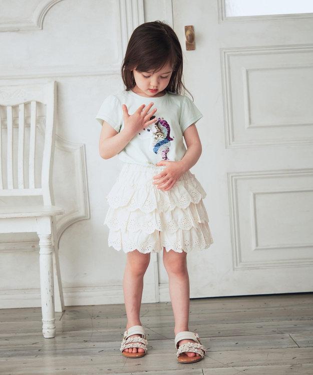 any FAM KIDS レースティアード キュロット