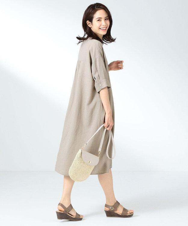 any FAM L 【定番人気】リネンブレンド ワンピース