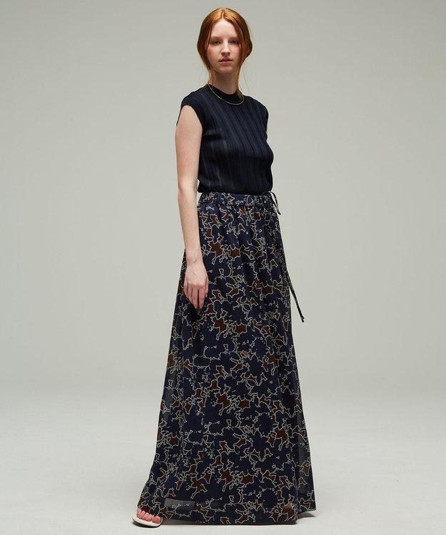 ICB L 【マガジン掲載】Shadow Flower 2WAY ロングスカート(番号CM22)