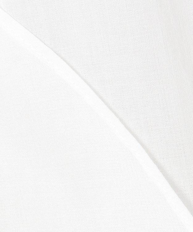 組曲 S 【WEB限定カラーあり/洗える】ソフトコットンローン  フロントフリル ハイネックブラウス