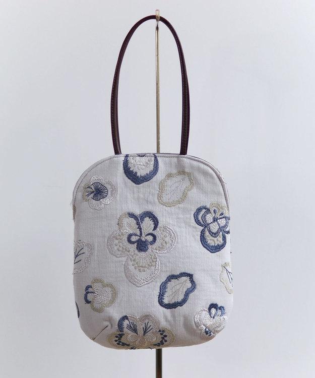 AND WOOL ビオラ刺繍のminiバッグ