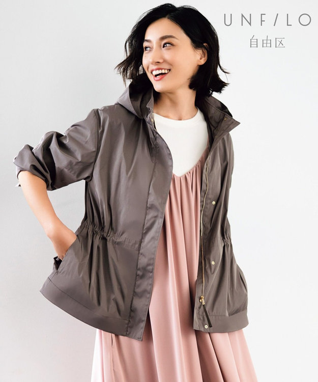 自由区 L 【UNFILO】バイカラー ダブルクロス フーデッドジャケット(検索番号UD22)