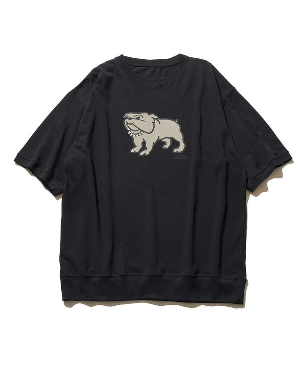 J.PRESS YORK STREET 【UNISEX】ブルドッグプリント Tシャツ