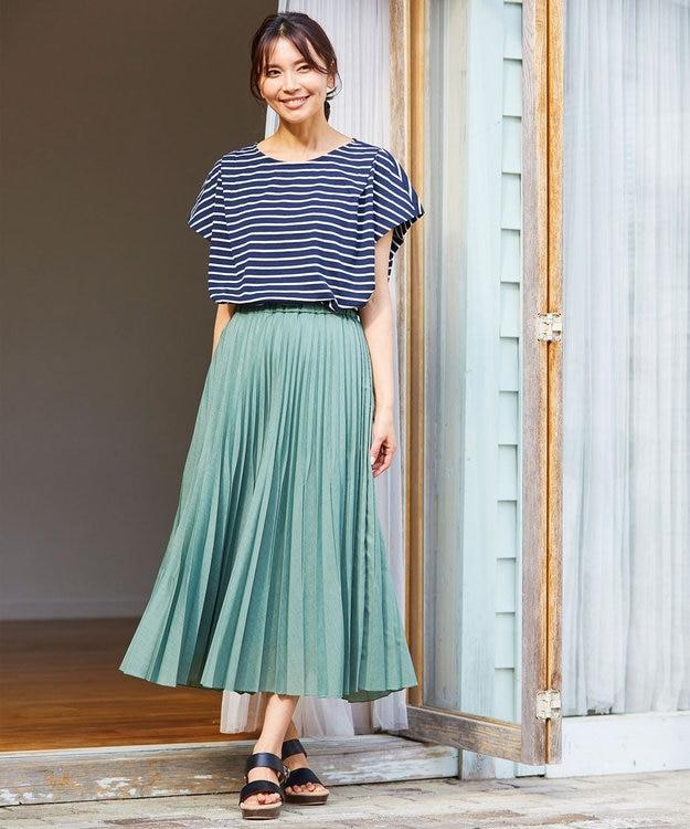 any FAM L 【優木まおみ着用】【洗える】ツイストボイルダブル  プリーツスカート