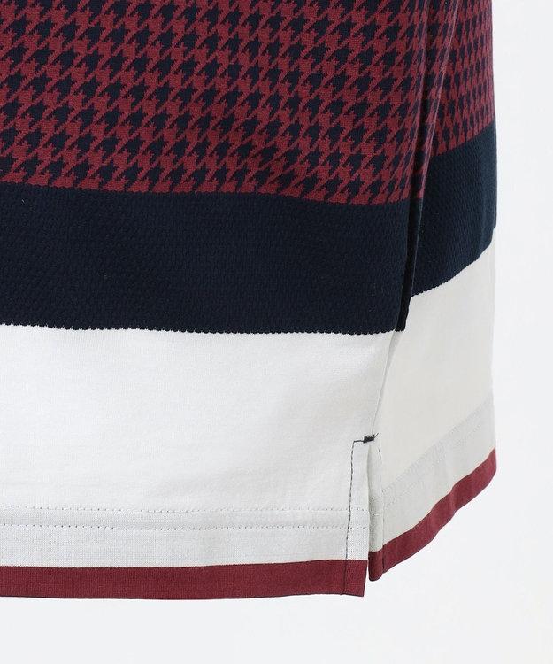 DAKS GOLF 【MEN】千鳥ビッグボーダー ポロシャツ