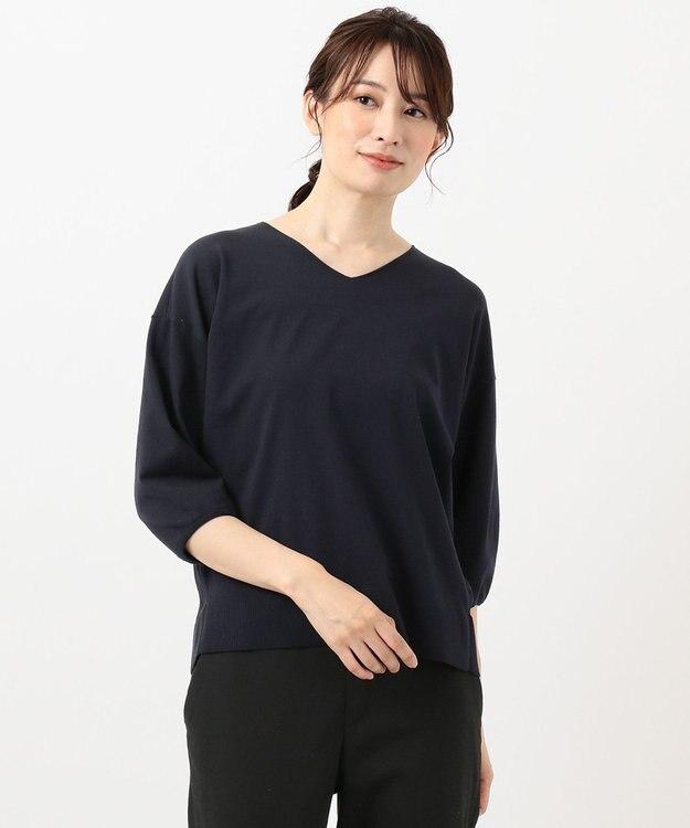 J.PRESS LADIES L 【洗える】PRINCESS Vネック ニット