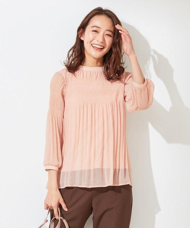 any SiS L 【美人百花5月号掲載】プリーツシフォン ブラウス