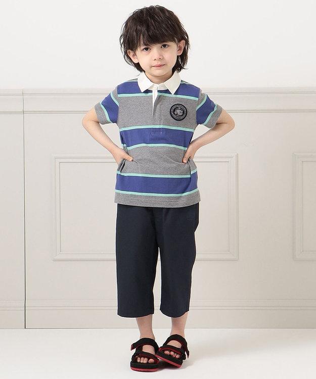 J.PRESS KIDS 【110-130cm】40/2天竺ワイドボーダー ポロシャツ