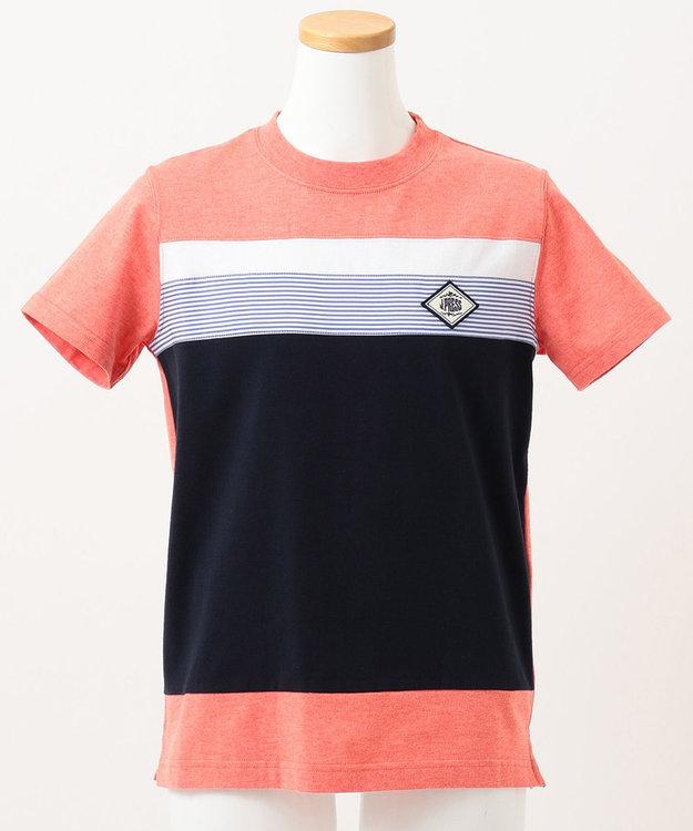 J.PRESS KIDS 【140-170cm】40/2天竺ブロッキングTシャツ