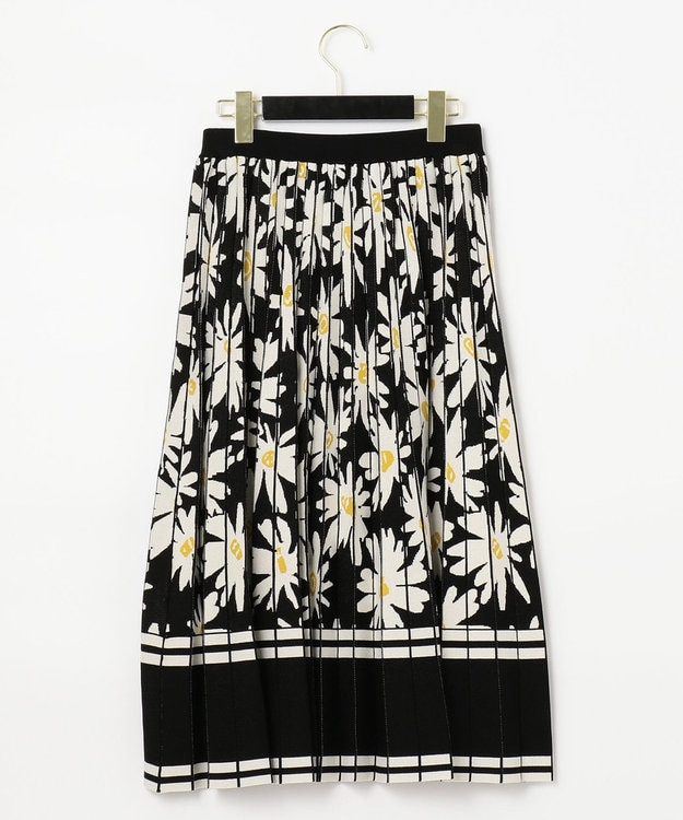 GRACE CONTINENTAL フラワーJQニットスカート