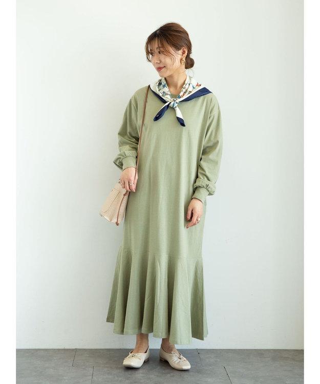 Green Parks ・SUGAR SPOON スソラッフルワンピース