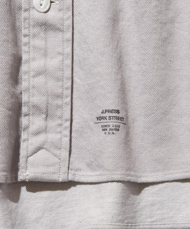 J.PRESS YORK STREET 【UNISEX】ライトツイル バンドカラーシャツ