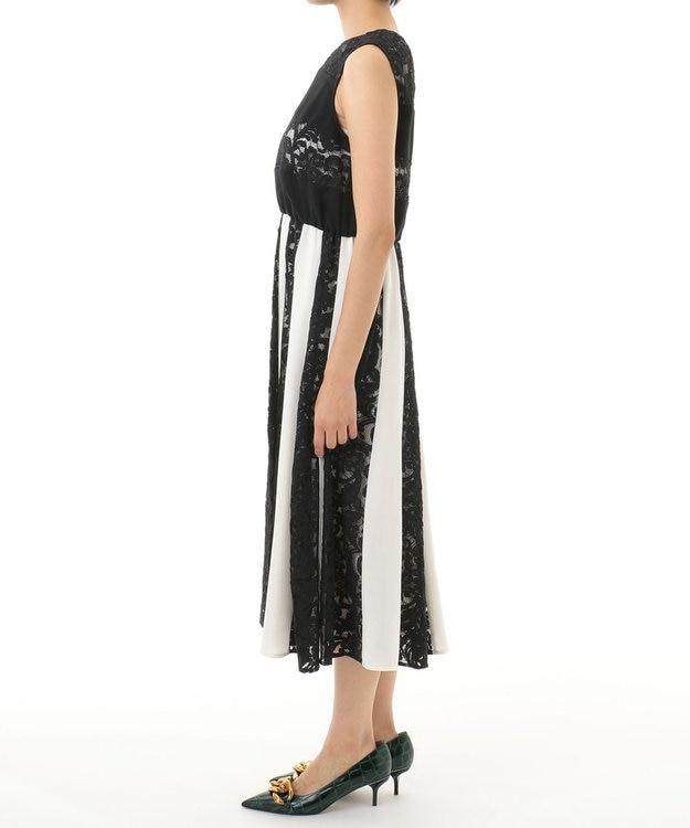 GRACE CONTINENTAL レース切替配色ドレス