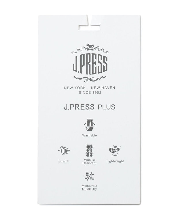 J.PRESS MEN 【J.PRESS PLUS】クールマックスサッカー パンツ