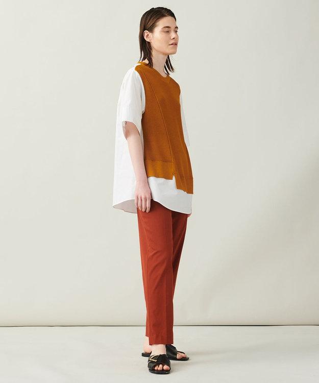 JOSEPH 【柚香 光さん着用・洗える】ニット/シャツ ラウンドネックコンビ