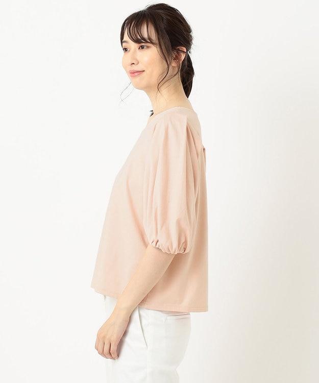 組曲 S 【洗える】コットンテンジクパフスリーブ カットソー