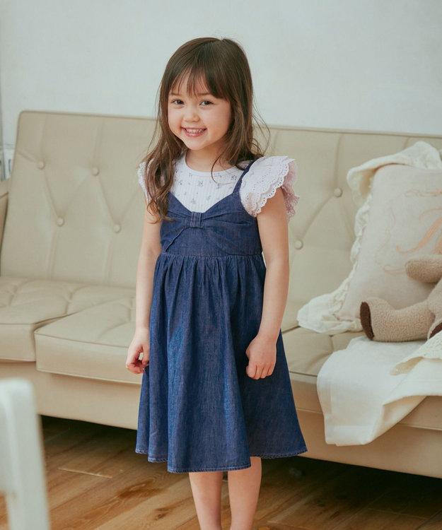 any FAM KIDS デニムキャミ ワンピース