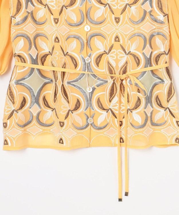 GRACE CONTINENTAL パフスリーブ刺繍ブラウス
