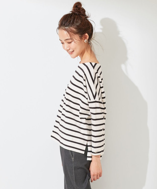 any SiS S 【L'aube】 バスクシャツ カットソー