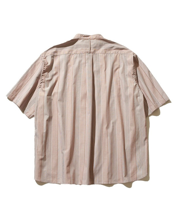 J.PRESS YORK STREET 【UNISEX】ブロードストライプ バンドカラーシャツ