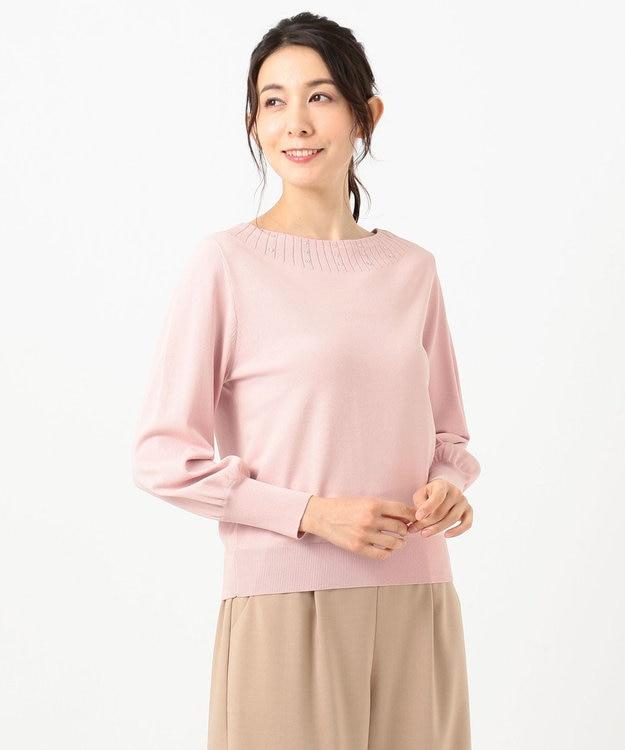 any SiS L 【洗える】ビジュー調キュウシン ニット