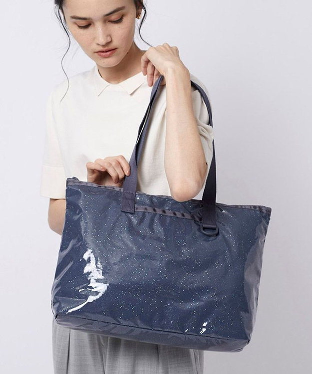 LeSportsac DAILY EAST WEST TOTE/グリッター シャドウ