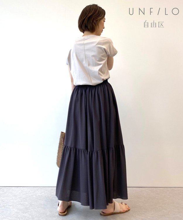 自由区 【UNFILO・Sサイズ有】 カノコジャージー スカート