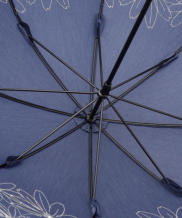 any SiS 【晴雨兼用】マーガレット刺繍 長傘