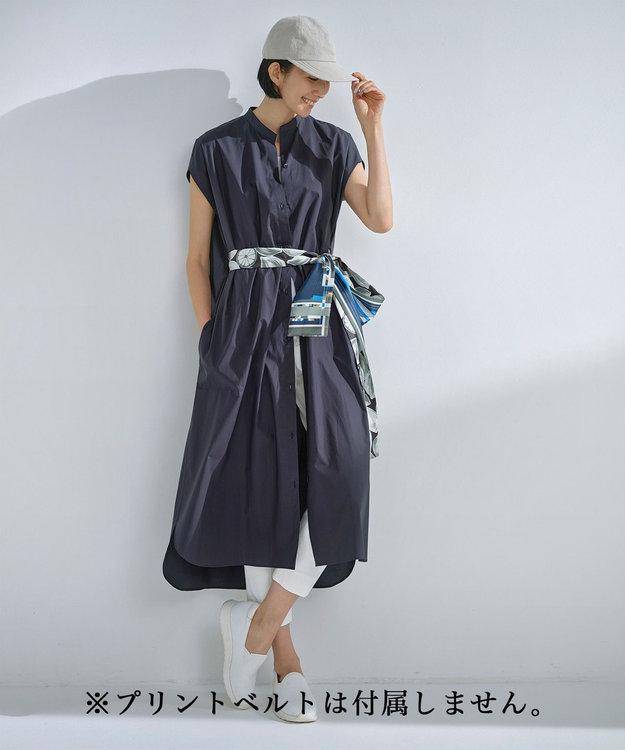 自由区 L 【丈が選べる!】カスタマイズ シャツワンピース 120cm