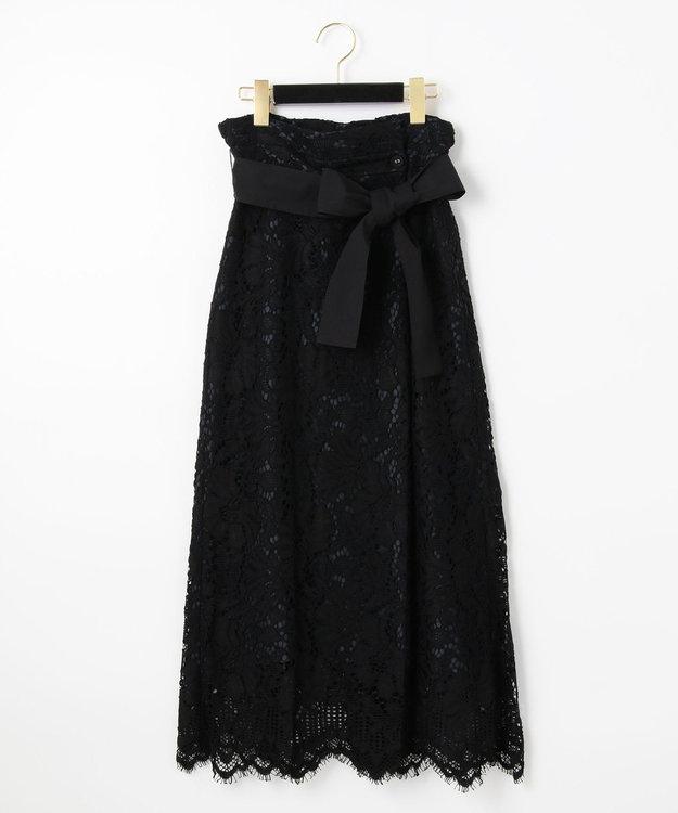 GRACE CONTINENTAL レースタックロングスカート