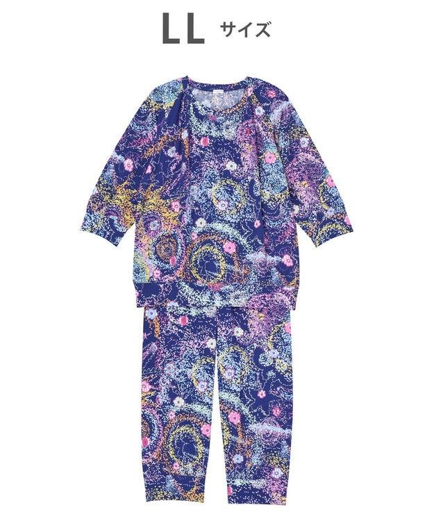 tsumori chisato SLEEP パジャマ 8分袖8分パンツ 太陽、地球、星 /ワコール UDO257