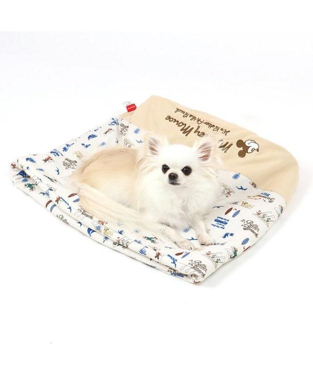 PET PARADISE 犬 春夏 クール 接触冷感 ペット ベッド ディズニー ミッキーマウス 筒型 カドラー(40×45cm) サーフ柄 くるっとカドラー 夏 ひんやり 涼感 冷却 クール 洗える 犬 猫 ペットベット ハウス 小型犬 介護 ふわふわ クッション