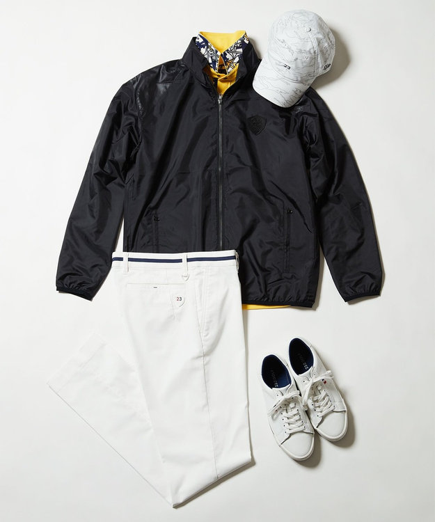 23区GOLF 【MEN/日本製/吸汗速乾/UV】ハイストレッチ鹿子 シャツ