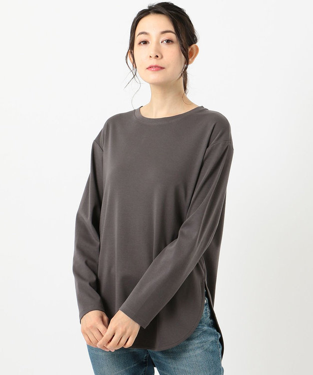 any FAM L USAコットン裾テール  ロングTシャツ