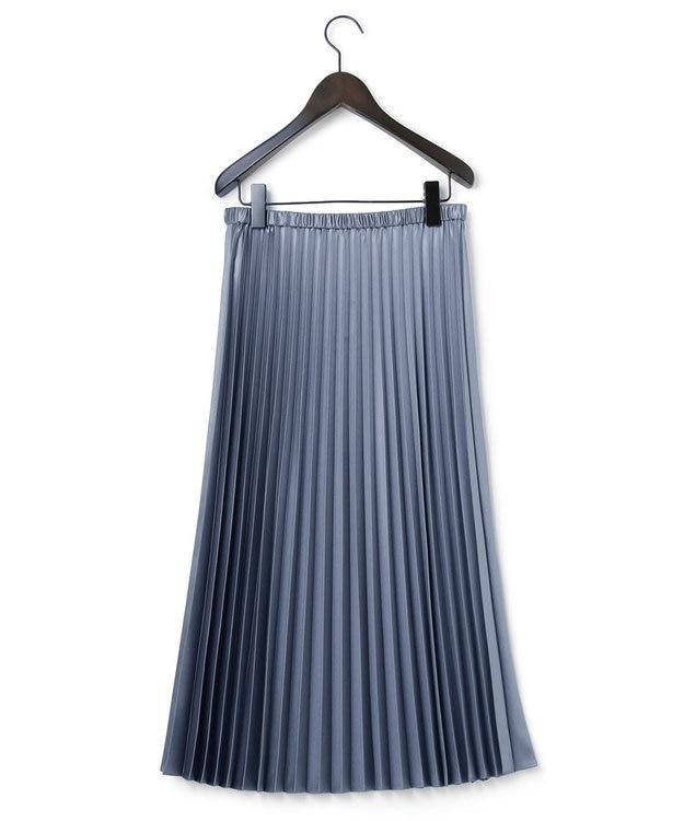 23区 S サテンプリーツ レザー スカート