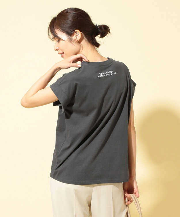 any FAM 【オーガニックコットン】オーガビッツバックロゴ Tシャツ