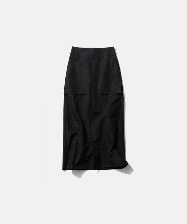 ATON SILK LINEN SHANTUNG | Aラインスカート