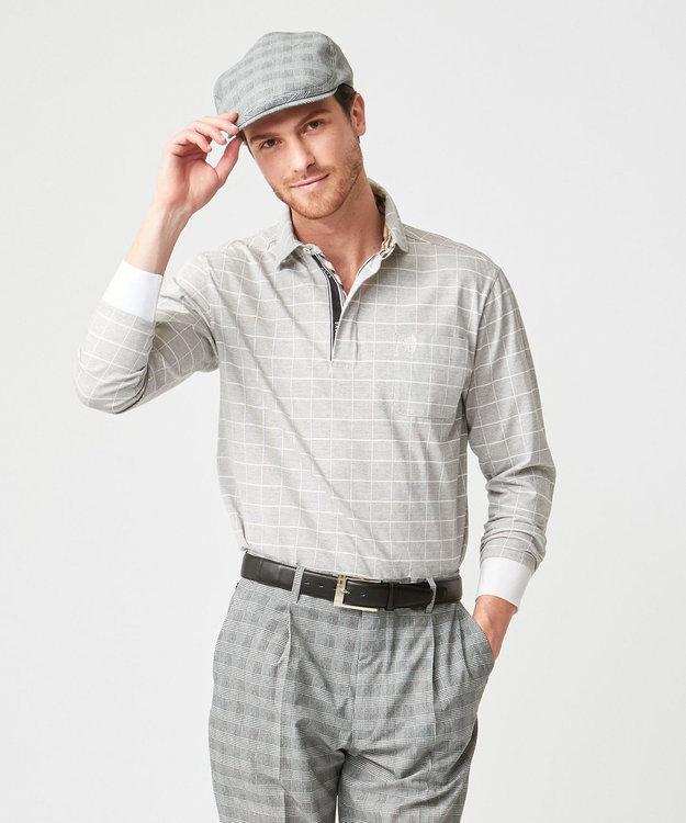 DAKS GOLF 【MEN】モードグラフチェック ポロシャツ