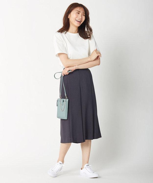 J.PRESS LADIES S 【イージーケア・接触冷感・洗える】マルソースパンボイル パンツ