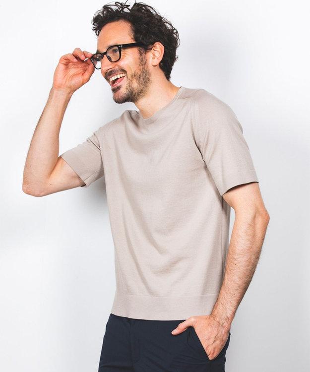 GOTAIRIKU 【大人のカジュアルTOPS&ジャケットinにも】ニットTシャツ