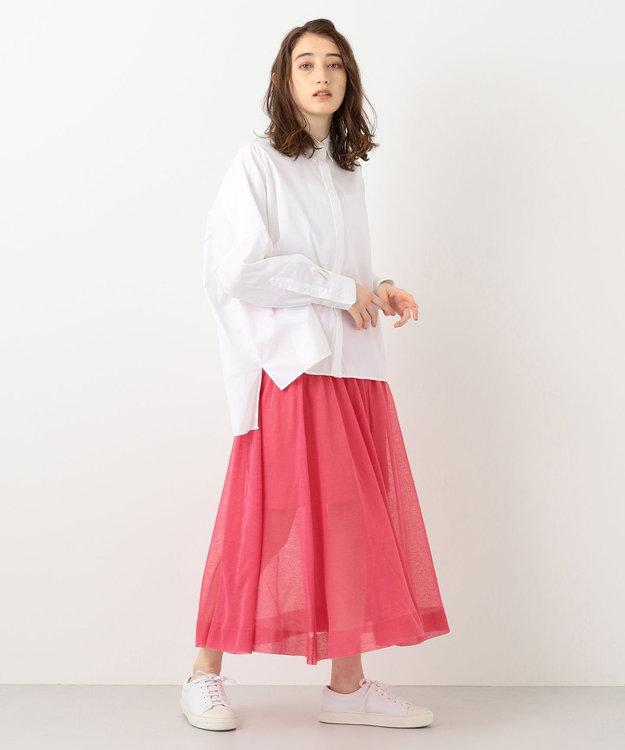 #Newans 【洗える】シアーニットスカート