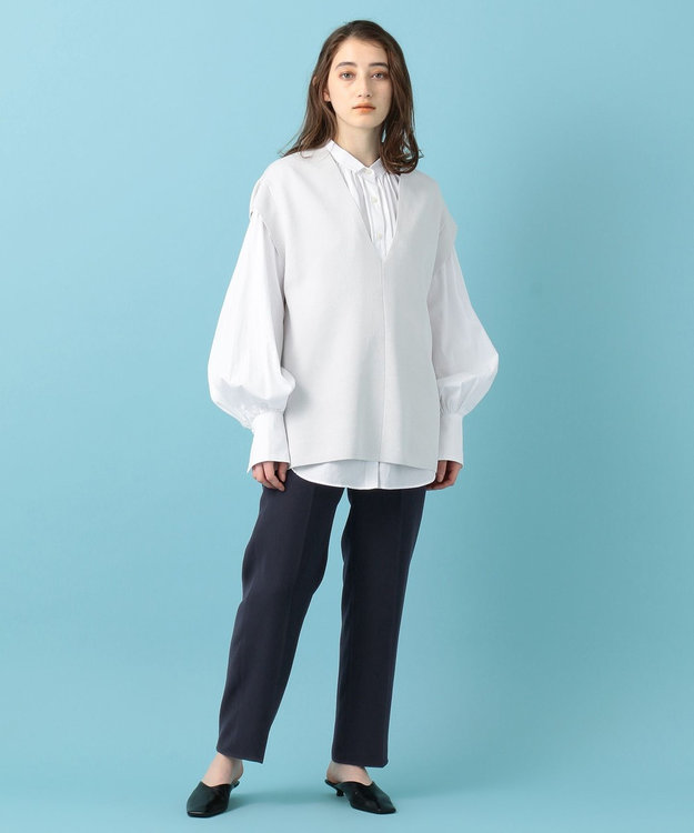 #Newans 【マガジン掲載】AUDREY/イタリアンカラーシャツ(番号NF46)