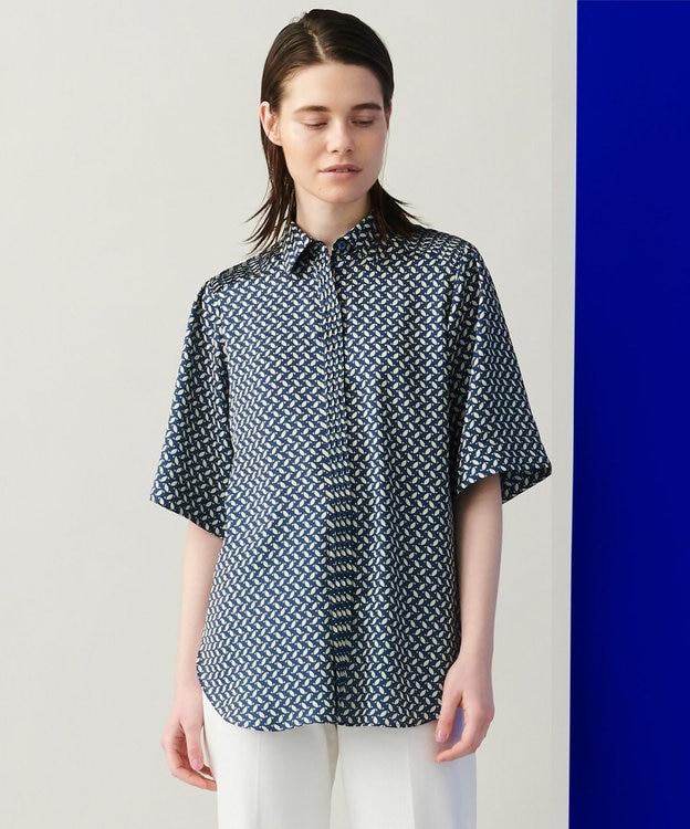 JOSEPH 【柚香 光さん着用・洗える】ベルベルプリント シャツ